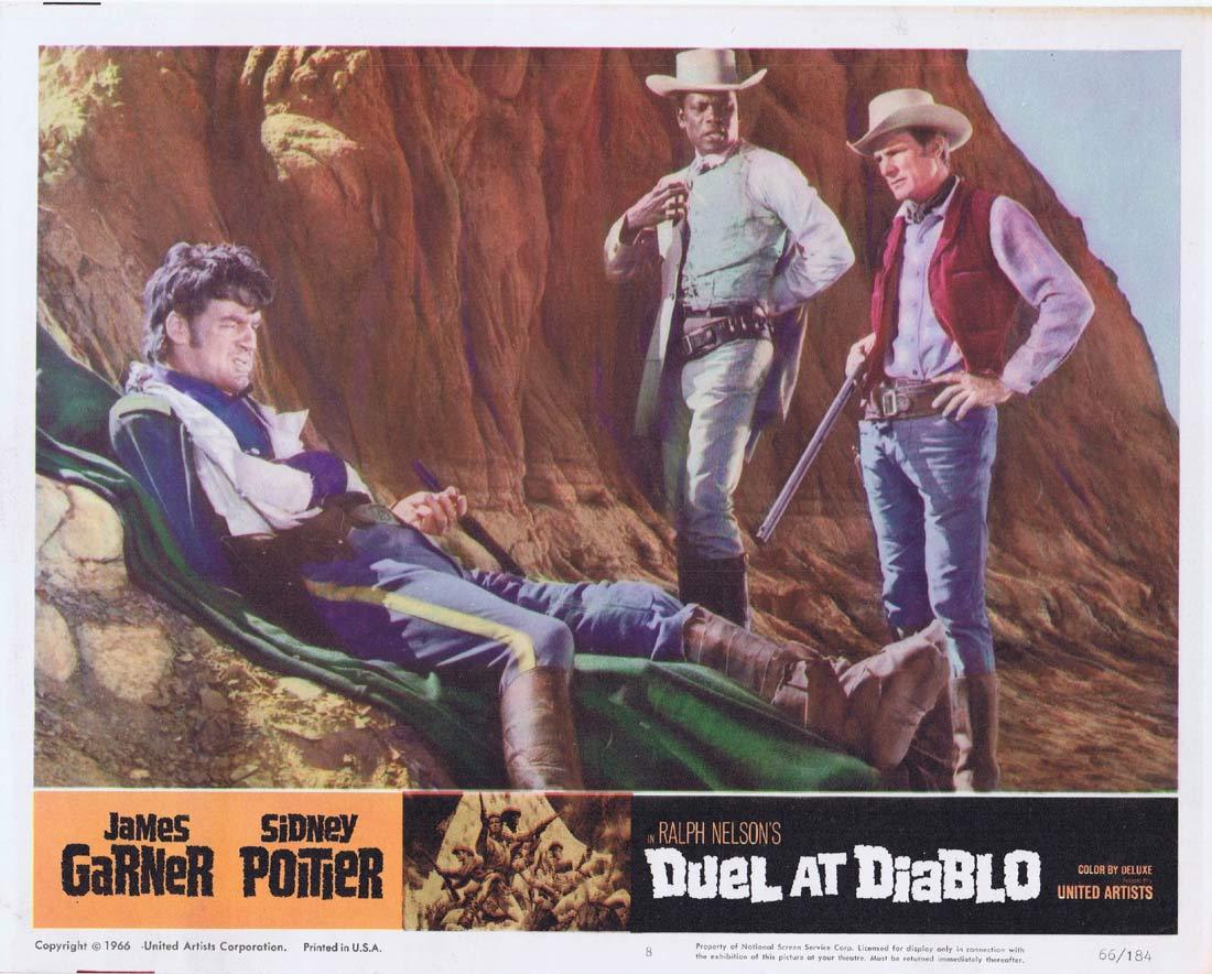 DUEL AT DIABLO Original Lobby Card 8 James Garner Sidney Poitier