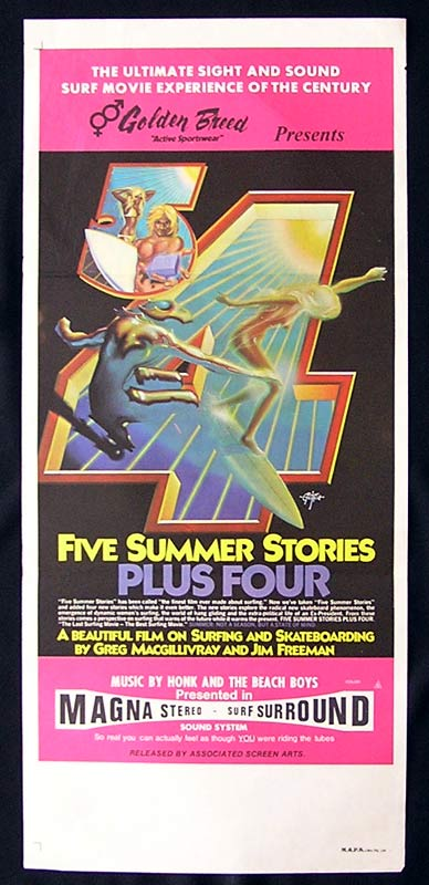 FIVE SUMMER STORIES PLUS FOUR Original Daybill Movie Poster Surfing