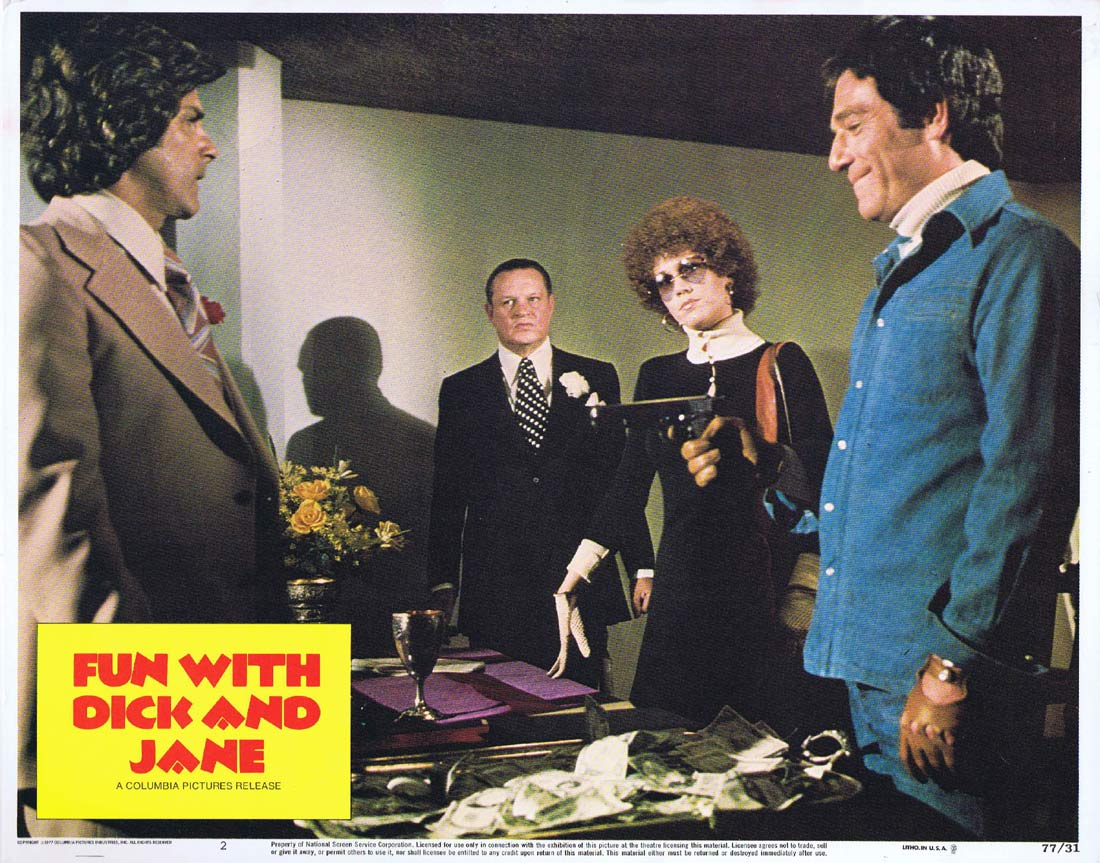 FUN WITH DICK AND JANE Original Lobby Card 2 George Segal Jane Fonda