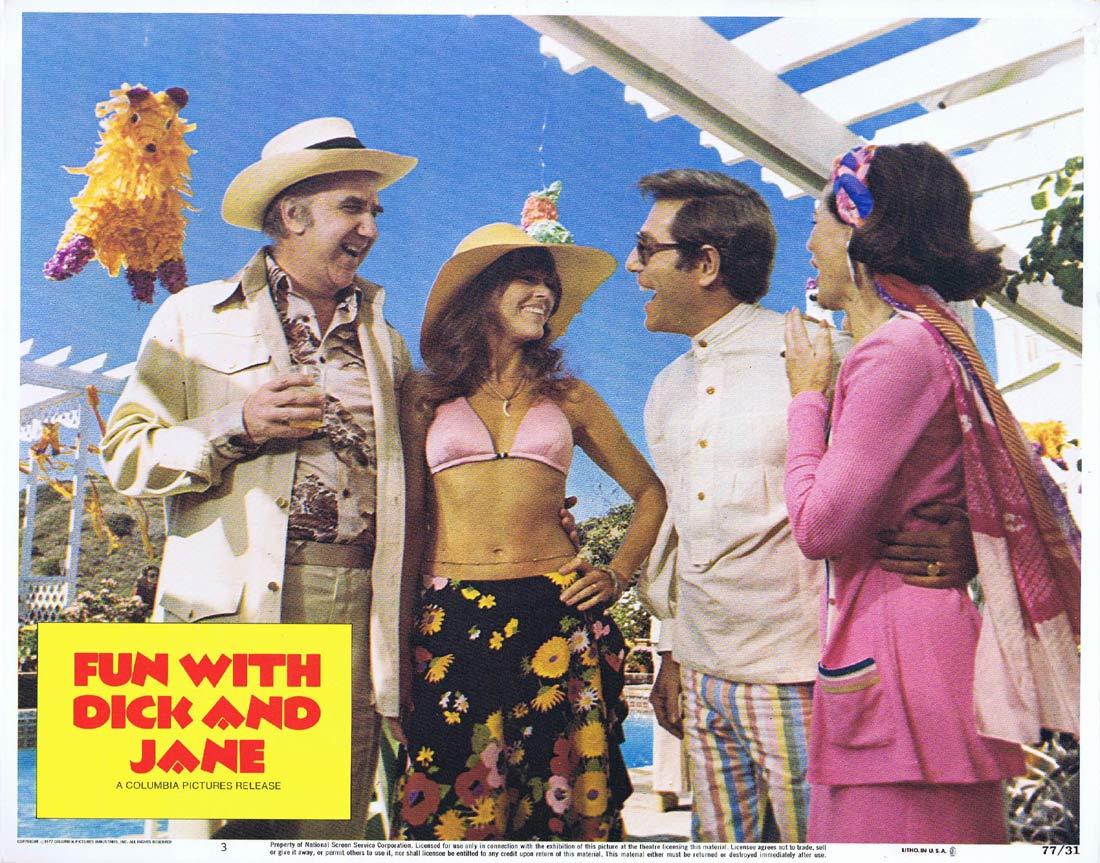 FUN WITH DICK AND JANE Original Lobby Card 3 George Segal Jane Fonda