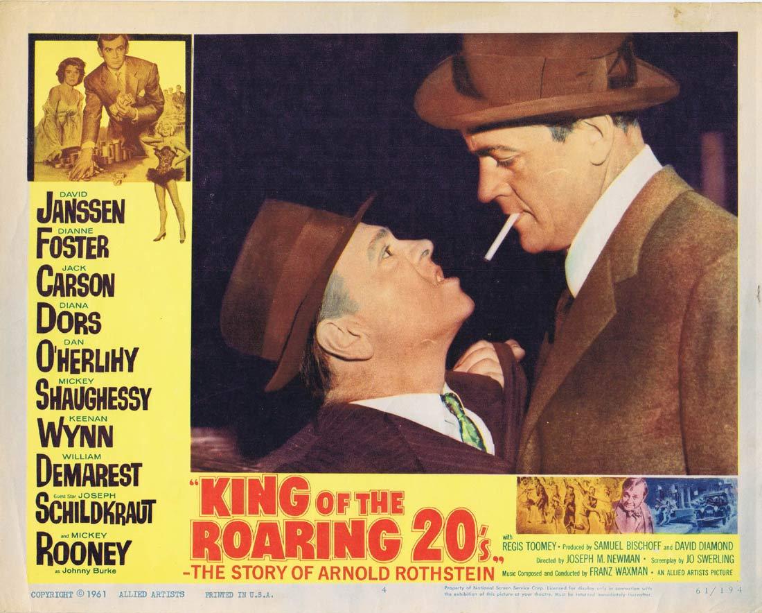 KING OF THE ROARING 20s Original Lobby Card 4 David Janssen Diana Dors
