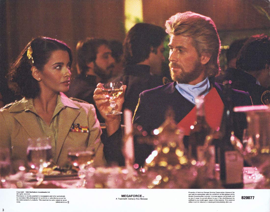MEGAFORCE Original Lobby Card 3 Barry Bostwick Michael Beck