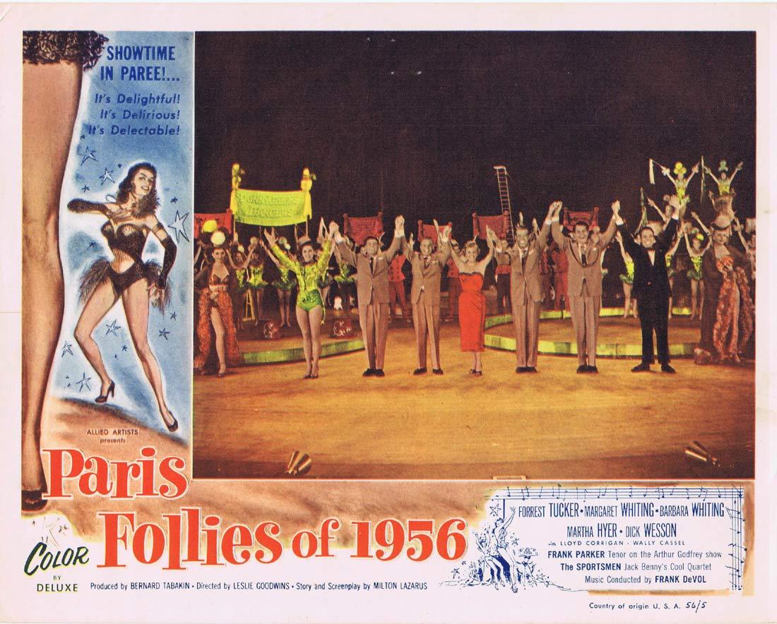 PARIS FOLLIES OF 1956 Original Lobby Card 3 Forrest Tucker Margaret Whiting