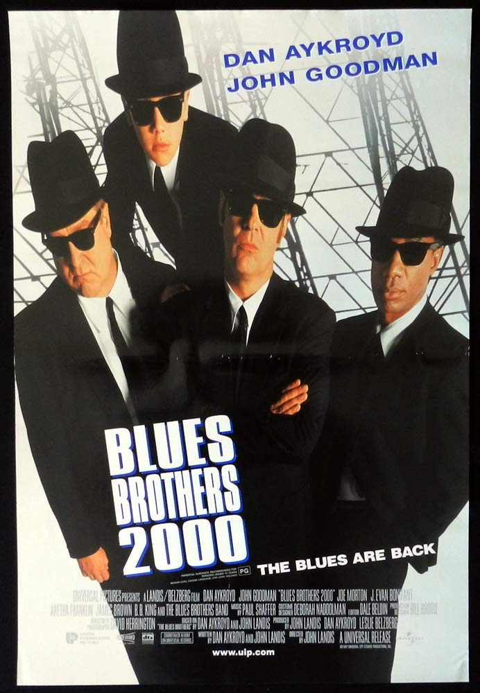 THE BLUES BROTHERS 2000 Original DS Daybill Movie poster Dan Aykroyd