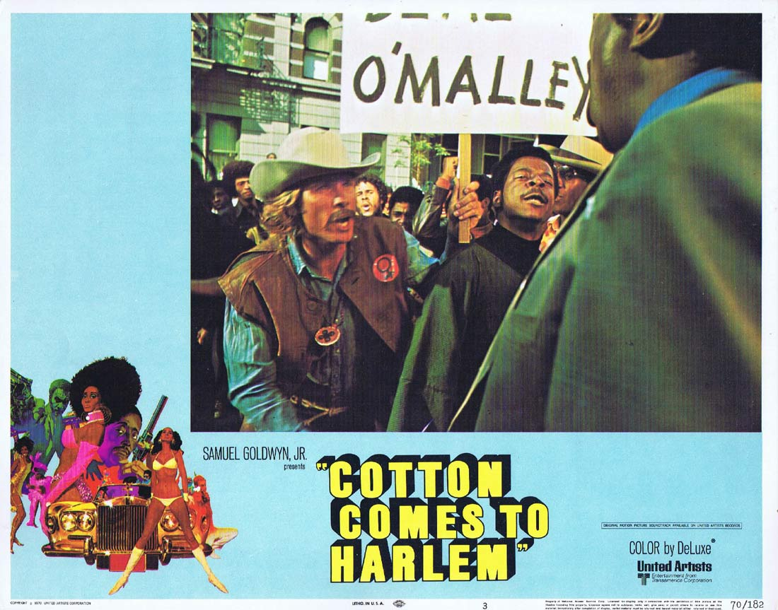 COTTON COMES TO HARLEM Original US Lobby Card 3 Godfrey Cambridge Raymond St. Jacques