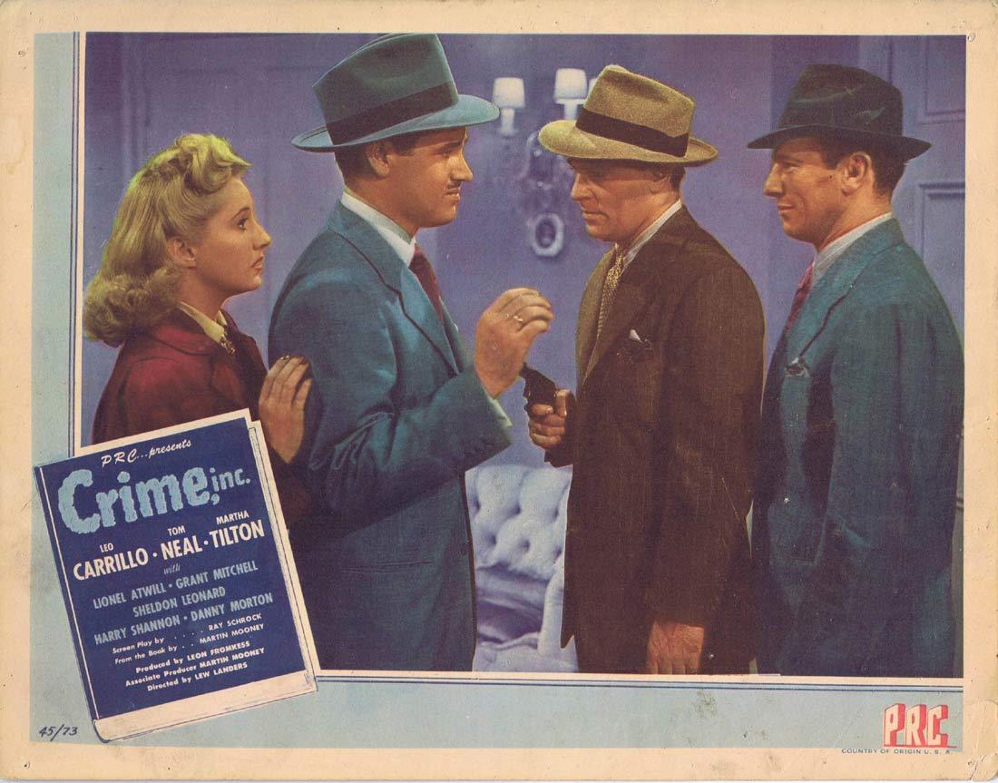 CRIME INC Original US Lobby Card 2 Leo Carrillo Tom Neal Film Noir