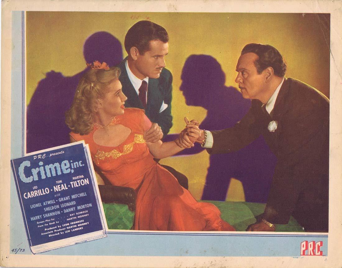 CRIME INC Original US Lobby Card 5 Leo Carrillo Tom Neal Film Noir