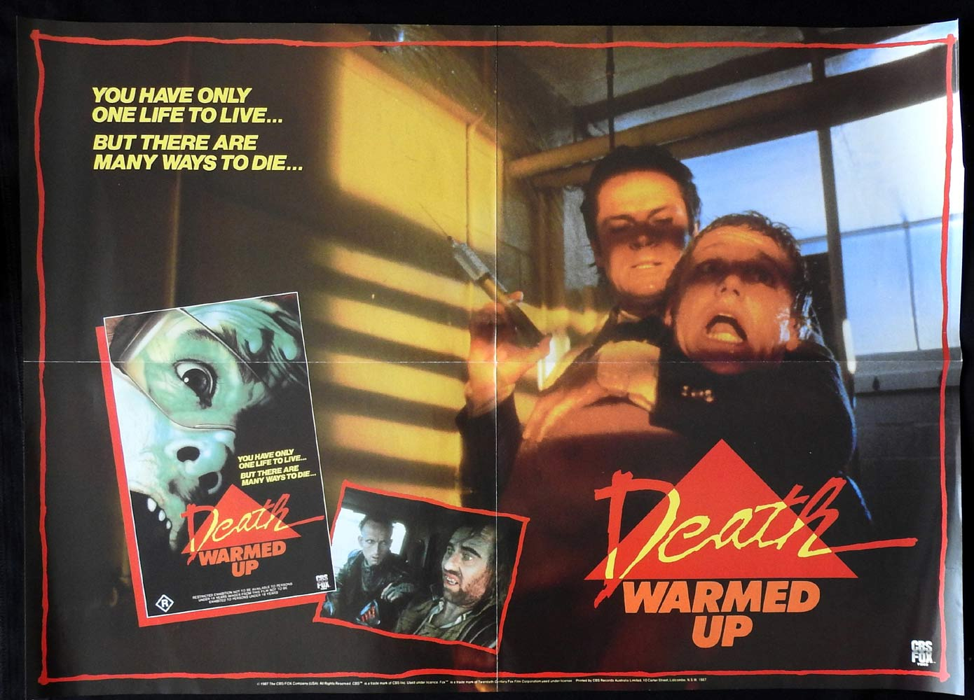 DEATH WARMED UP Video Release One sheet Movie Poster Michael Hurst Margaret Umbers NZ