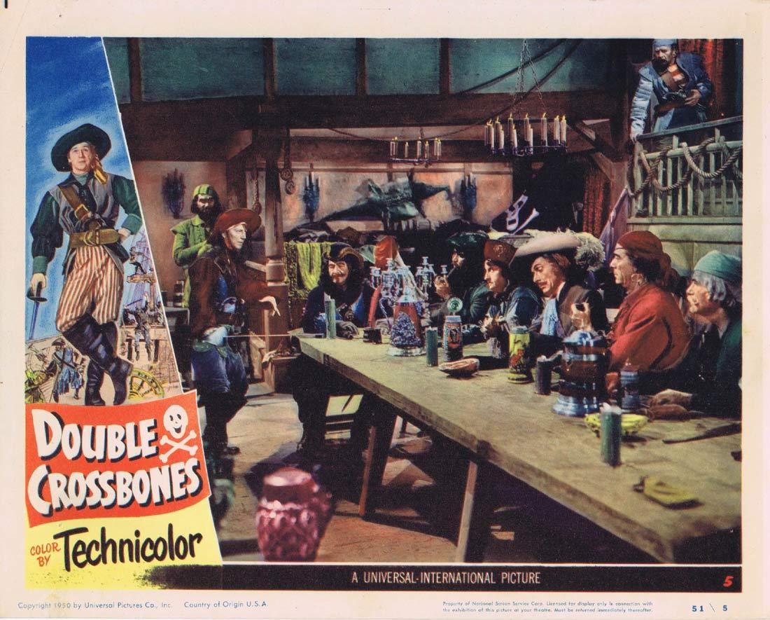 DOUBLE CROSSBONES Original Lobby Card 5 Donald O'Connor Helena Carter.