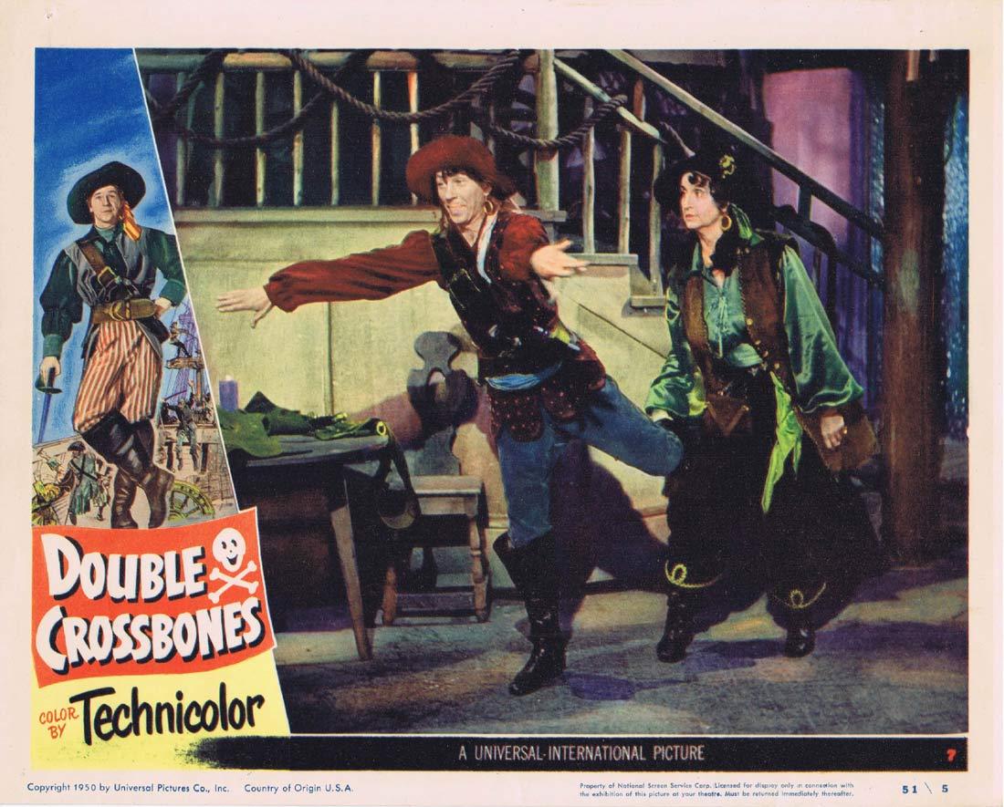 DOUBLE CROSSBONES Original Lobby Card 7 Donald O'Connor Helena Carter.
