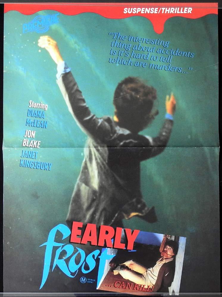 EARLY FROST Video Release One sheet Movie Poster Guy Doleman Jon Blake Diana McLean