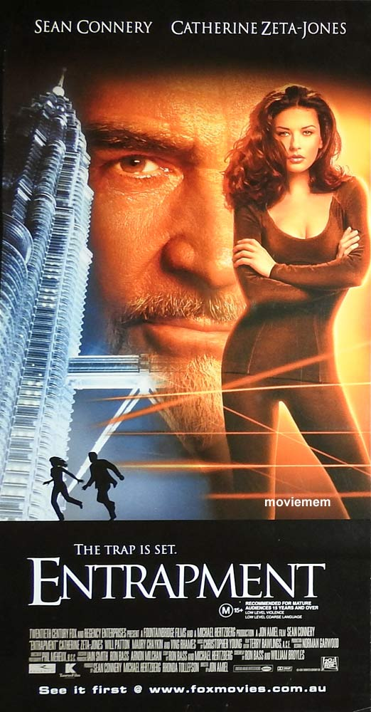 ENTRAPMENT Original Daybill Movie Poster Sean Connery Catherine Zeta-Jones
