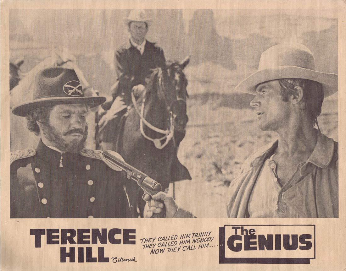 THE GENIUS Original Lobby Card 2 Terence Hill Sergio Leone