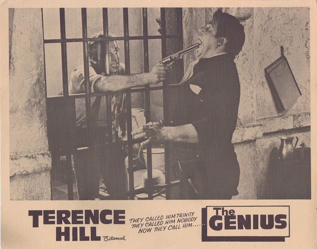 THE GENIUS Original Lobby Card 7 Terence Hill Sergio Leone