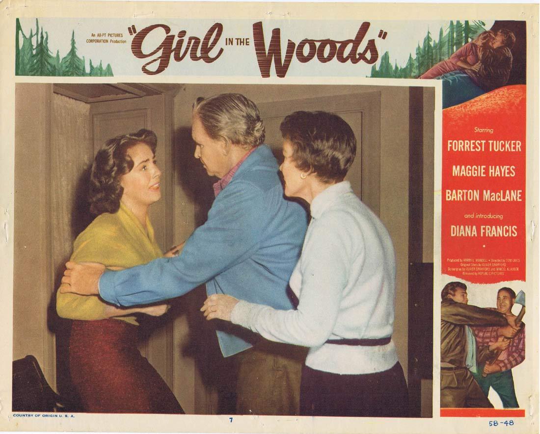 GIRL IN THE WOODS Original Lobby Card 7 Forrest Tucker Margaret Hayes