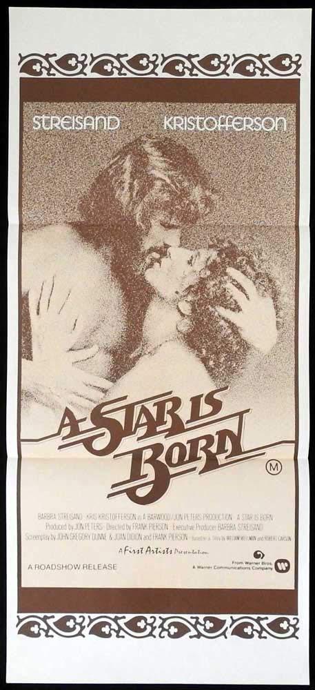 A STAR IS BORN Original Daybill Movie Poster Barbra Streisand Kris Kristofferson B