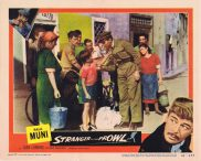 STRANGER ON THE PROWL Original Lobby Card 2 Paul Muni Joan Lorring