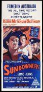 THE SUNDOWNERS 1960s Daybill Movie Poster Deborah Kerr Robert Mitchum Peter Ustinov