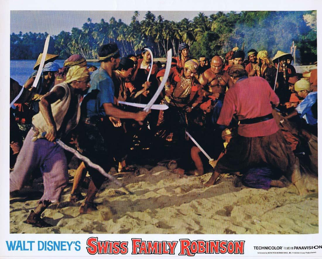 SWISS FAMILY ROBINSON Original Lobby Card 2 John Mills Dorothy McGuire