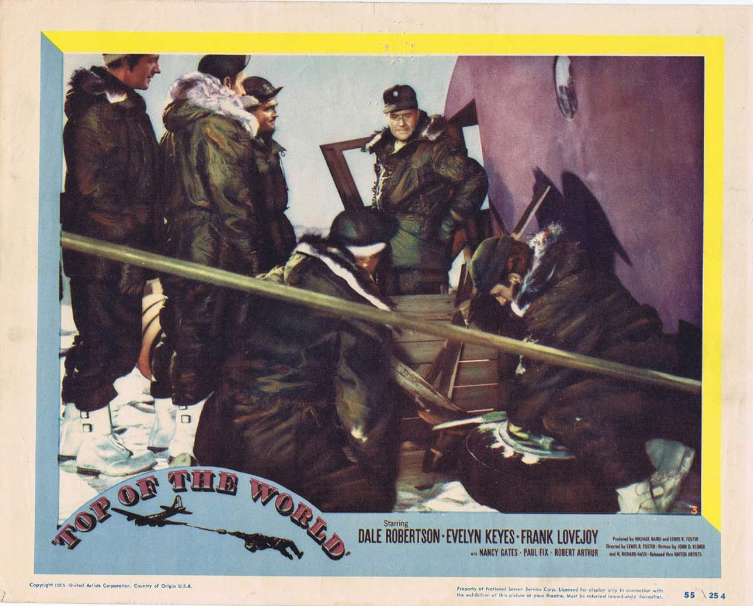 TOP OF THE WORLD Original Lobby Card 3 Dale Robertson Evelyn Keyes