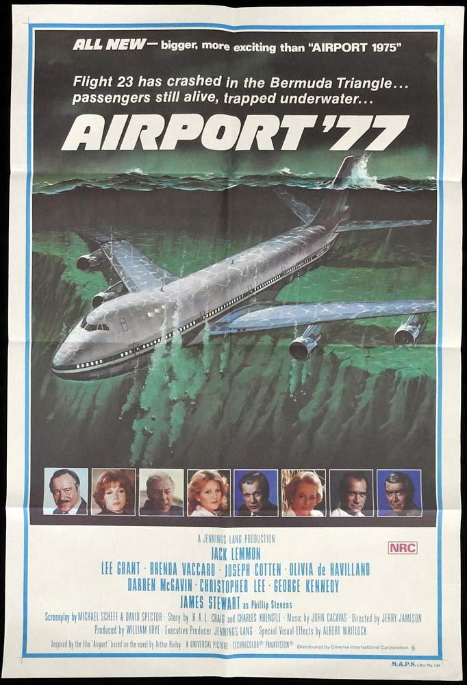 AIRPORT '77 Original One sheet Movie poster Jack Lemmon James Stewart