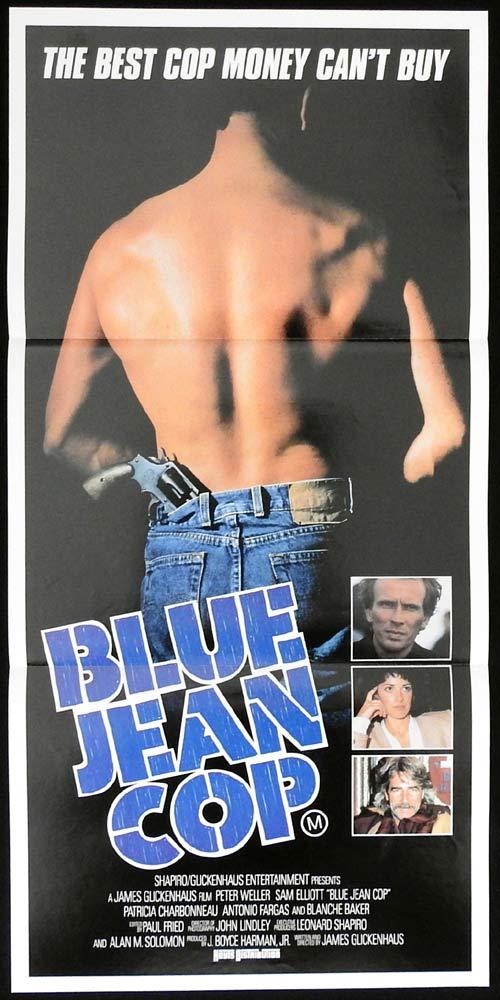 BLUE JEANS COP aka SHAKEDOWN Original Daybill Movie poster Peter Weller