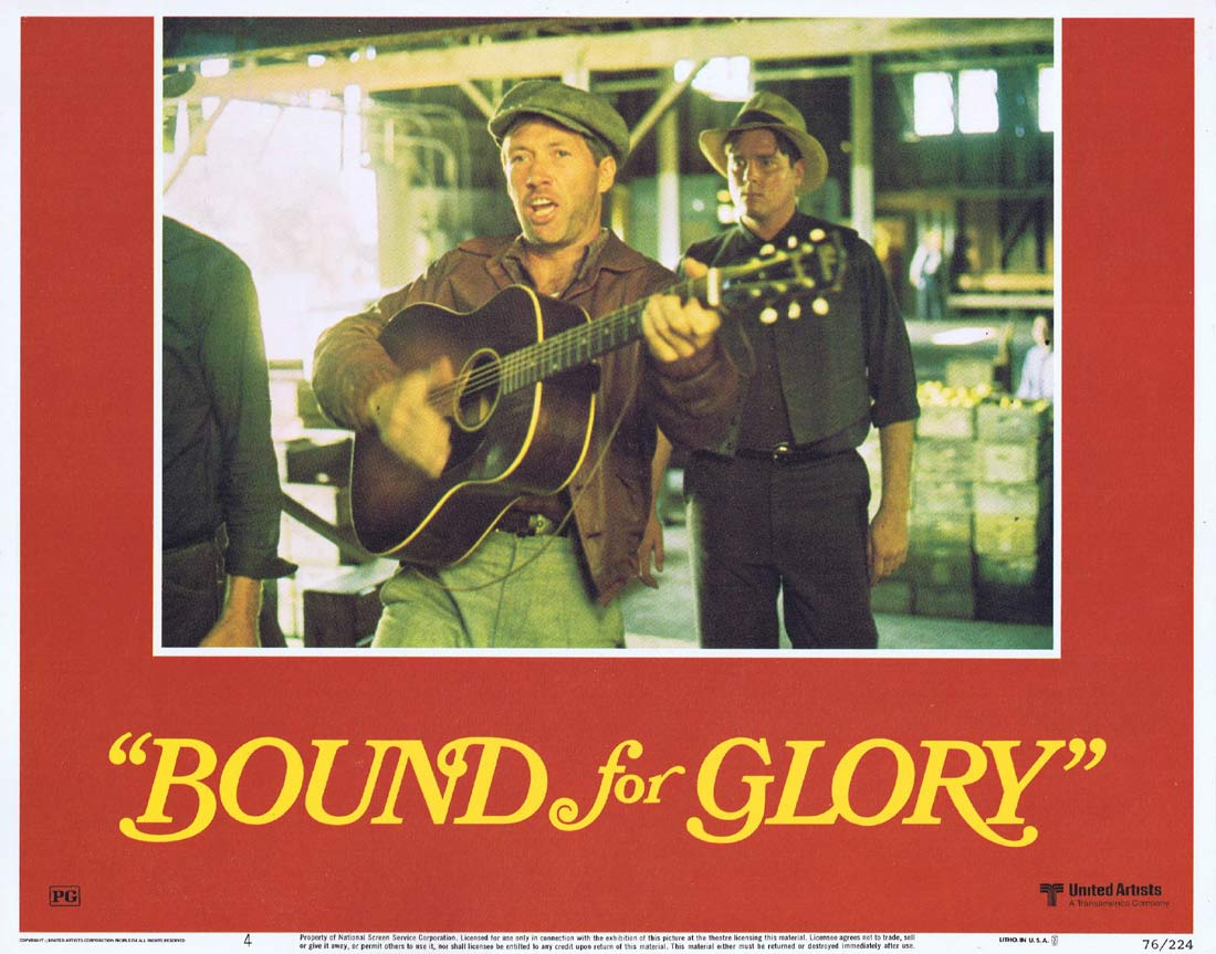 BOUND FOR GLORY Original Lobby Card 4 David Carradine