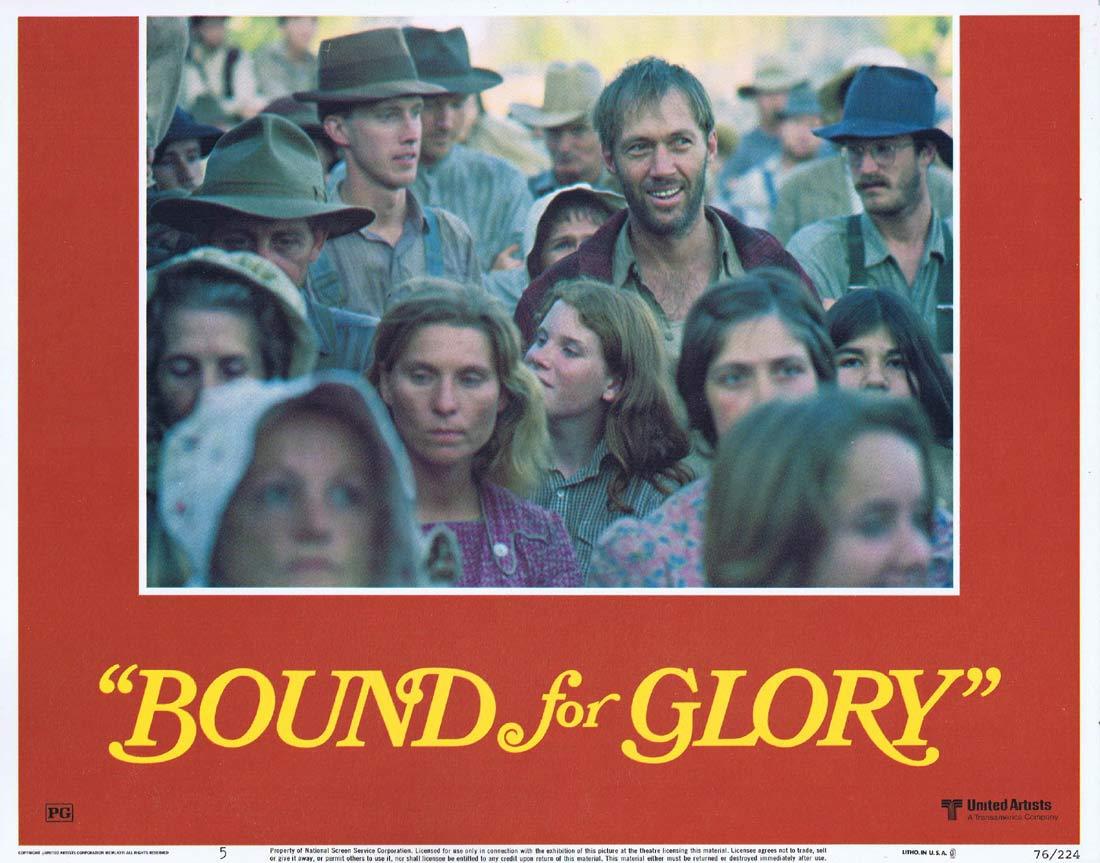 BOUND FOR GLORY Original Lobby Card 5 David Carradine