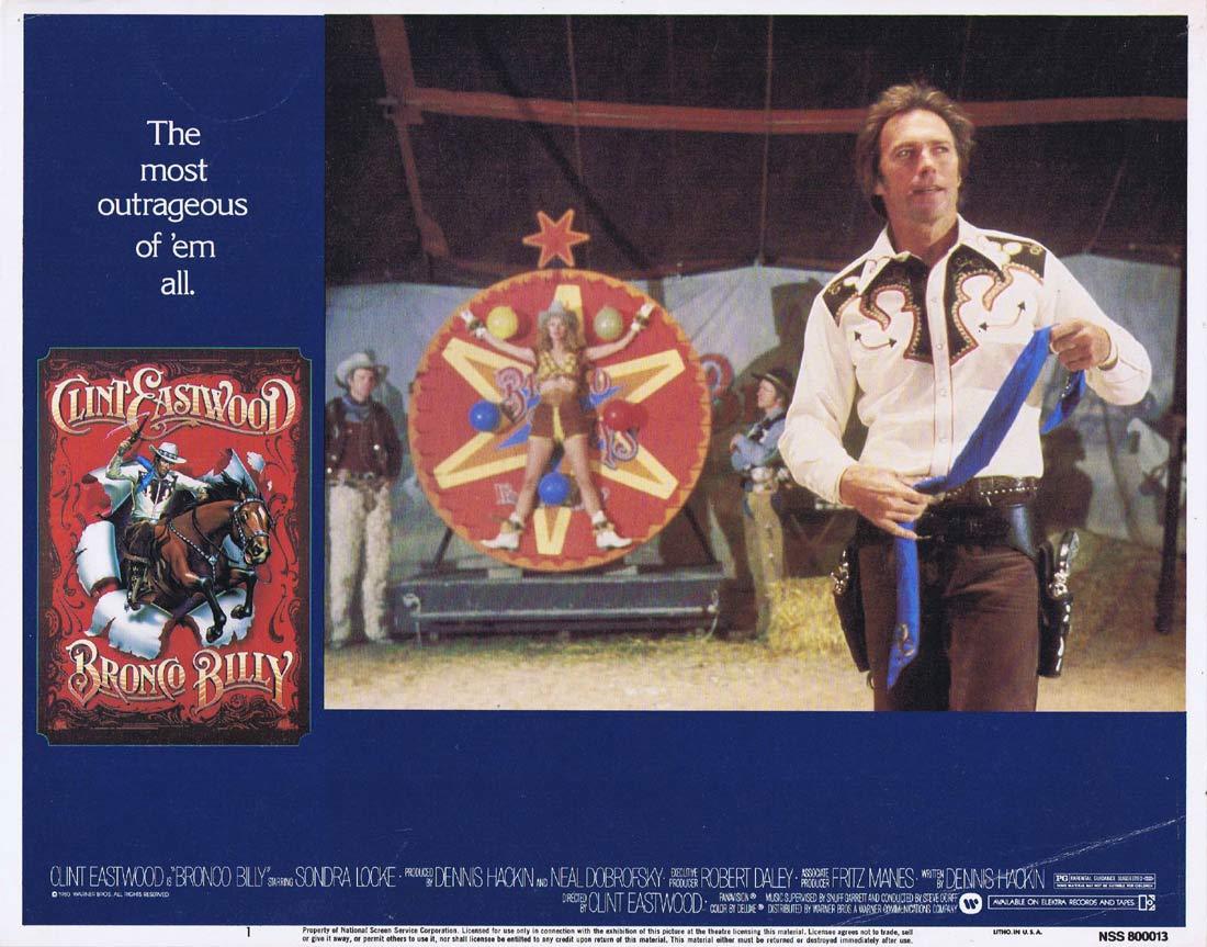 BRONCO BILLY Original US Lobby Card 1 Clint Eastwood Sondra Locke