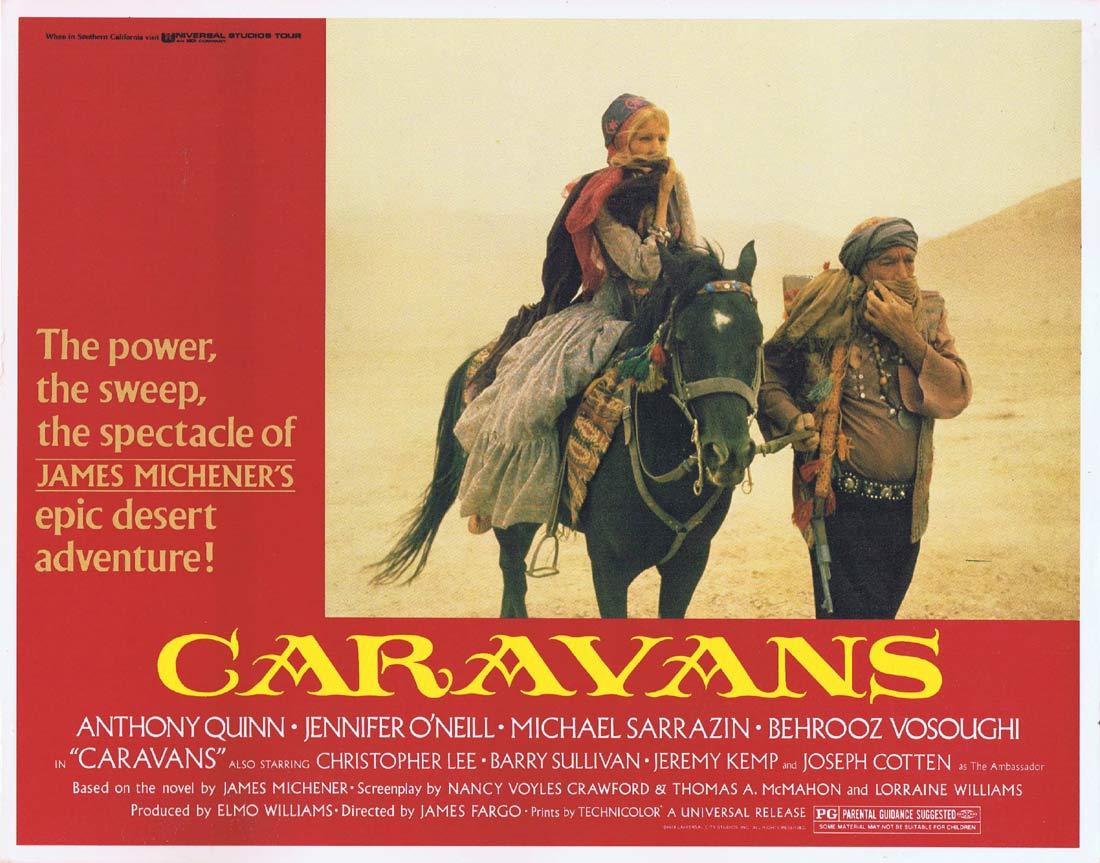 CARAVANS Original Lobby Card 2 Anthony Quinn Michael Sarrazin