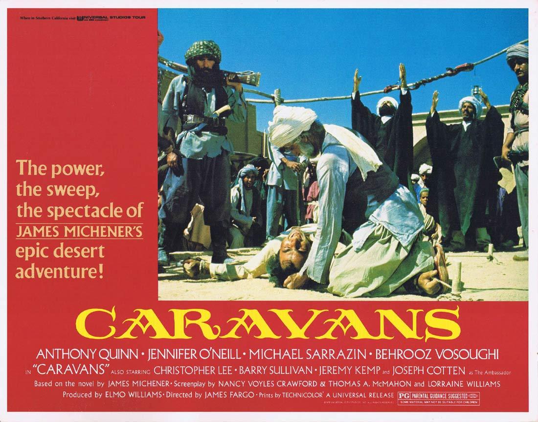 CARAVANS Original Lobby Card 3 Anthony Quinn Michael Sarrazin