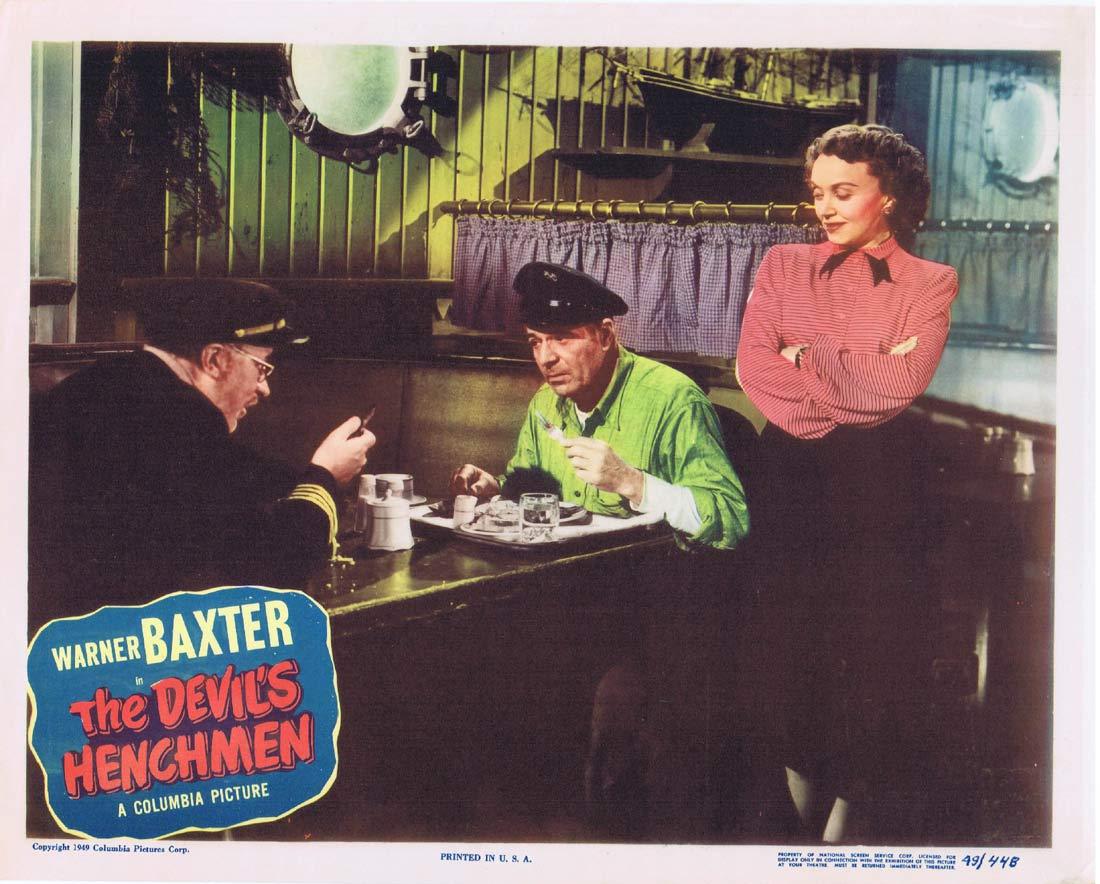 THE DEVIL'S HENCHMEN Original US Lobby Card 5 Warner Baxter Mary Beth Hughes