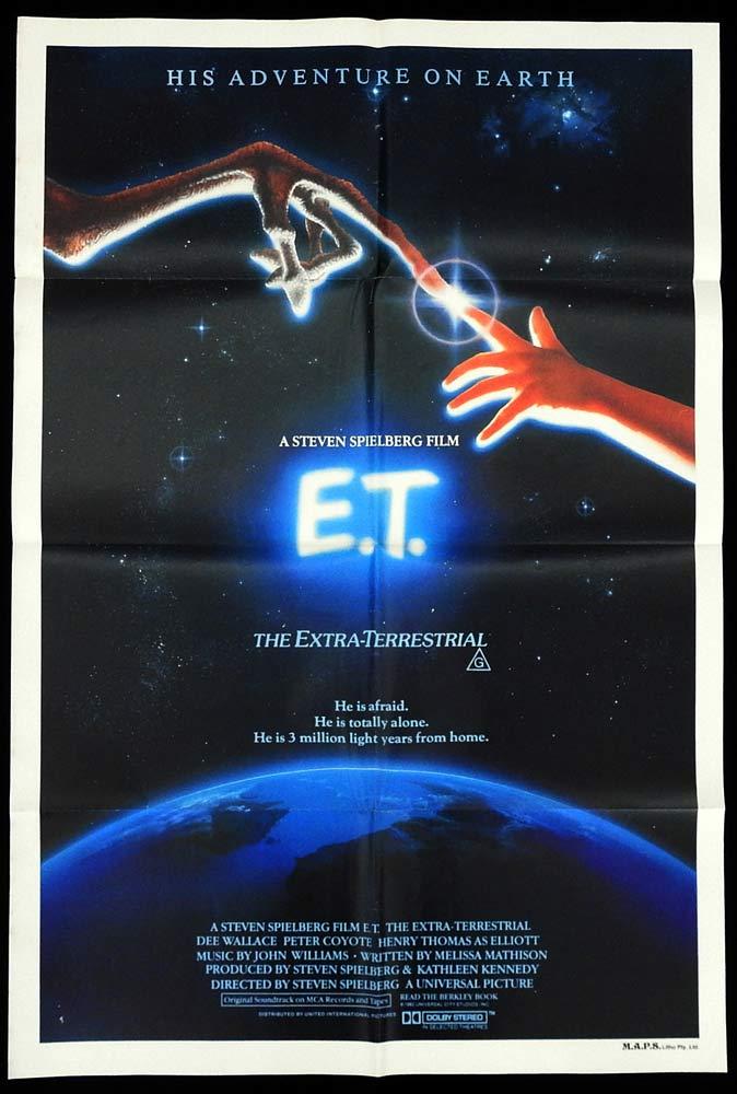 E.T. The Extra Terrestrial Original Australian One sheet poster Henry Thomas