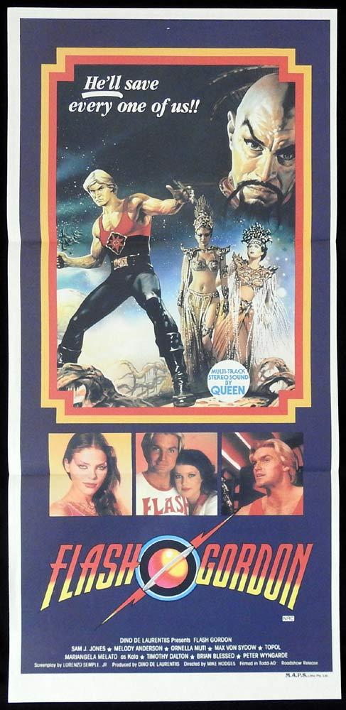 FLASH GORDON Original Daybill Movie poster Sam J. Jones