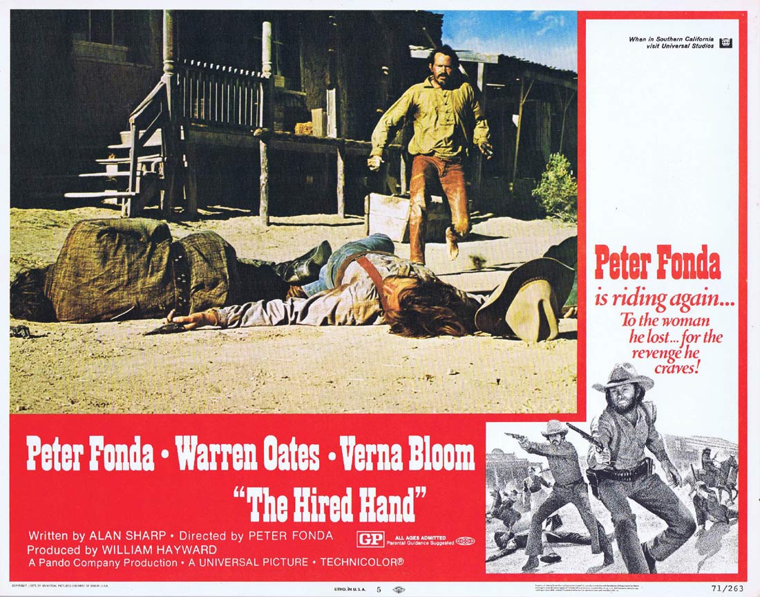THE HIRED HAND Original US Lobby Card 5 Peter Fonda Warren Oates