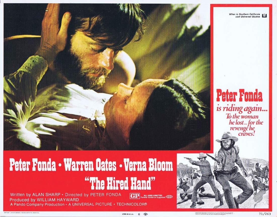 THE HIRED HAND Original US Lobby Card 6 Peter Fonda Warren Oates