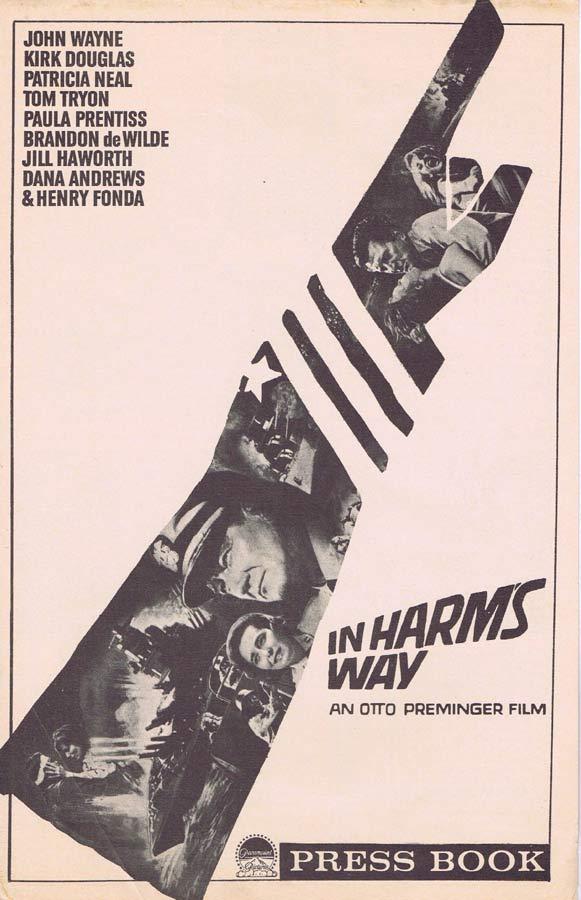 IN HARMS WAY Rare US Movie Press Book John Wayne Kirk Douglas