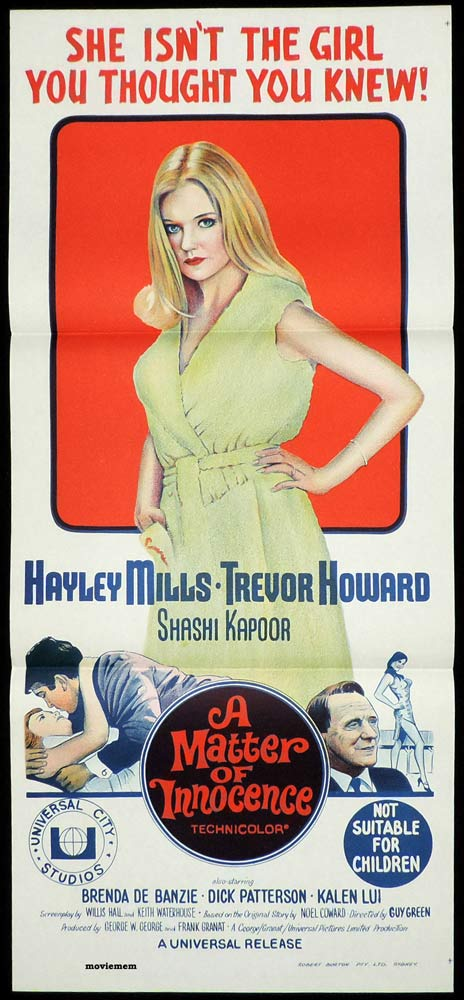 A MATTER OF INNOCENCE Original Daybill Movie Poster Hayley Mills PRETTY POLLY