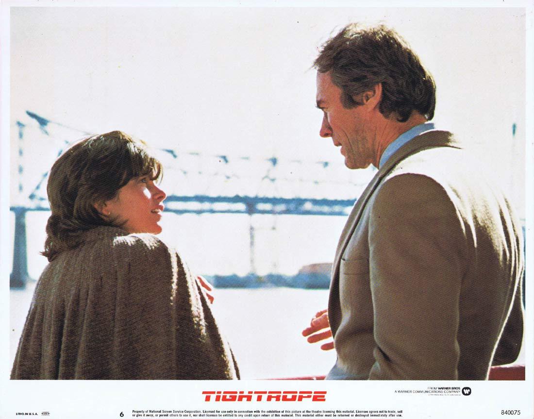 TIGHTROPE Original US Lobby Card 6 Clint Eastwood Geneviève Bujold