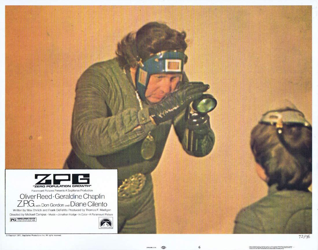 ZPG Original US Lobby Card 6 Oliver Reed Geraldine Chaplin