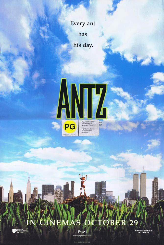 ANTZ Original Daybill Movie poster Woody Allen Dan Aykroyd