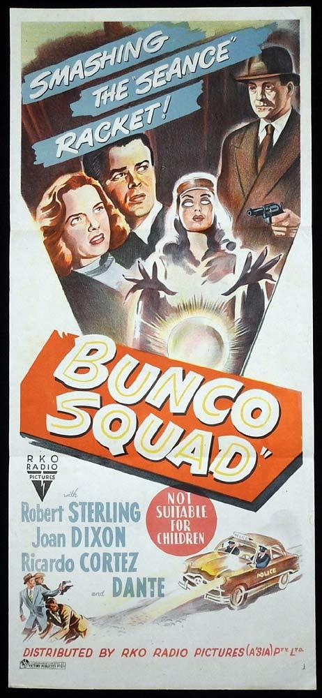 BUNCO SQUAD Daybill Movie poster RKO Film Noir Robert Sterling