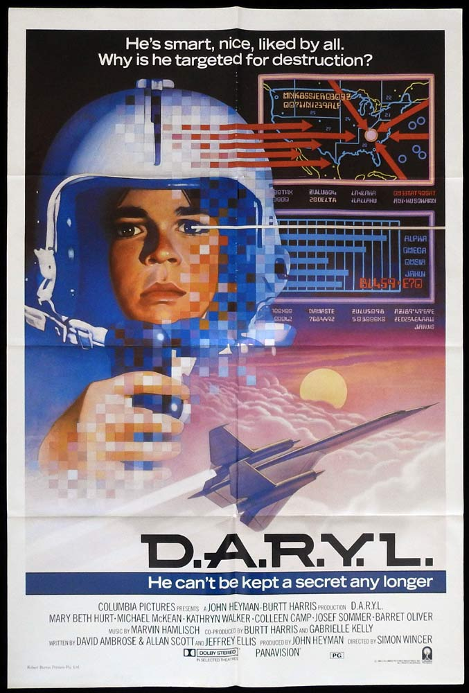 DARYL D.A.R.Y.L. One Sheet Movie Poster Simon Wincer
