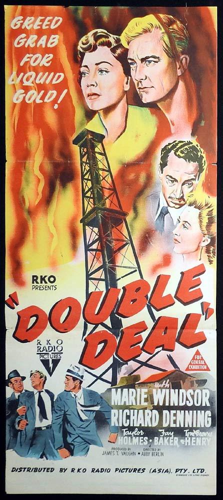 DOUBLE DEAL Original Daybill Movie Poster RKO Marie Windsor Richard Denning