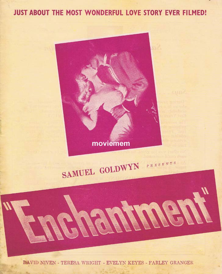 ENCHANTMENT Rare RKO AUSTRALIAN Movie Press Sheet David Niven