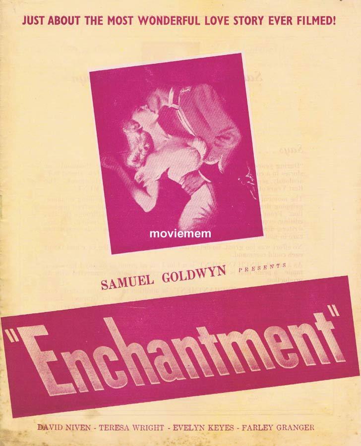 ENCHANTMENT Rare RKO AUSTRALIAN Movie Press Sheet David Niven