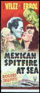 MEXICAN SPITFIRE AT SEA Daybill Movie poster RKO Lupe Vélez Leon Errol