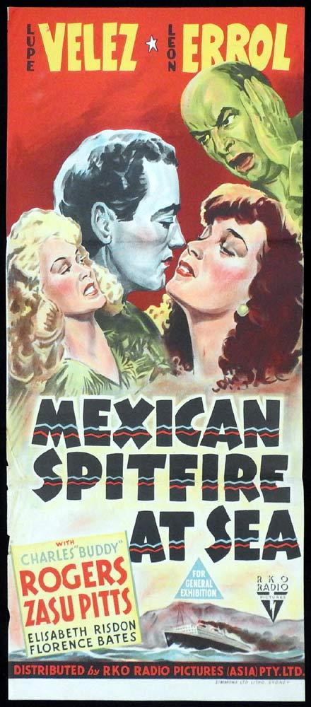 MEXICAN SPITFIRE AT SEA Daybill Movie poster RKO Lupe Vélez Leon Errol