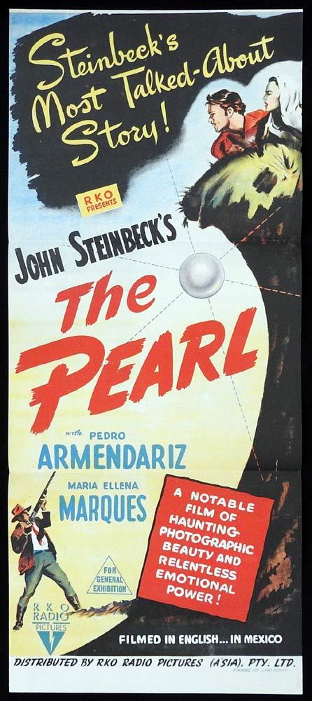 THE PEARL Original Daybill Movie Poster RKO Pedro Armendáriz