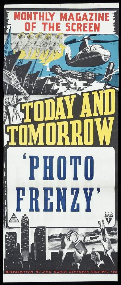 PHOTO FRENZY Stock RKO Daybill Movie poster 1950s Australian Newsreel